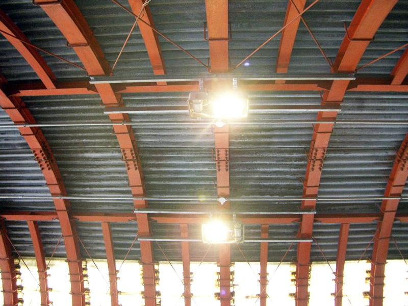 七曲シェルター照明設置工事