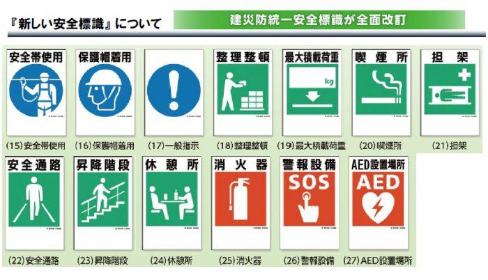 新しい安全標識2